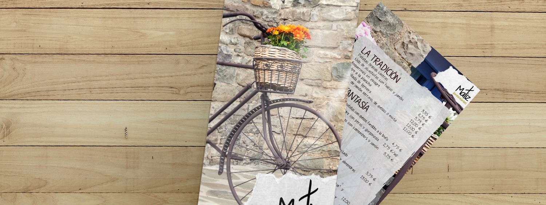 Diseño de carta de restaurante Matiz